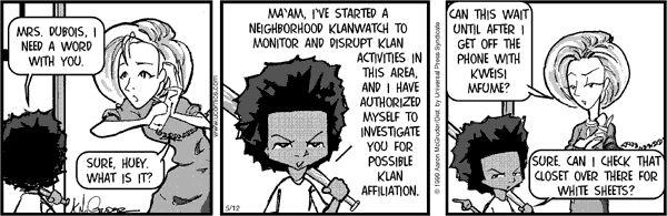 The Boondocks Comic Strip, December 13, 2013 on GoComics.com