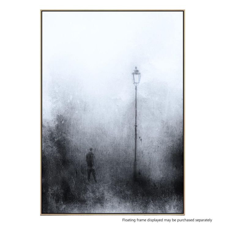 Conjuring imagery of lonely streets in winter, this striking portrait is a bold centre piece for your bedroom, living room or office. With it's compelling design, this piece can be a creative feature or an essential complementary accent to your space.