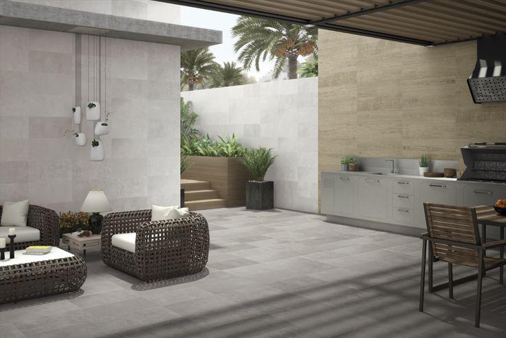 Coleccion STUCCO 3060NR #ceramica #tiles #terrazas #exteriores #diseño #tendencia