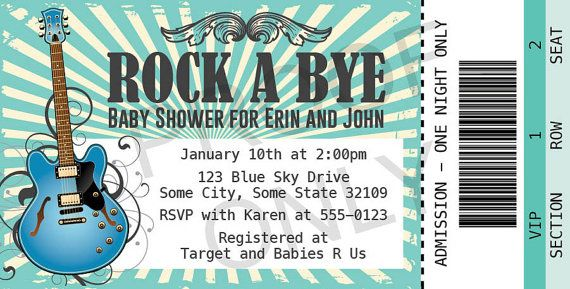 PRINTABLE Rock A Bye Baby Shower baby shower invitation