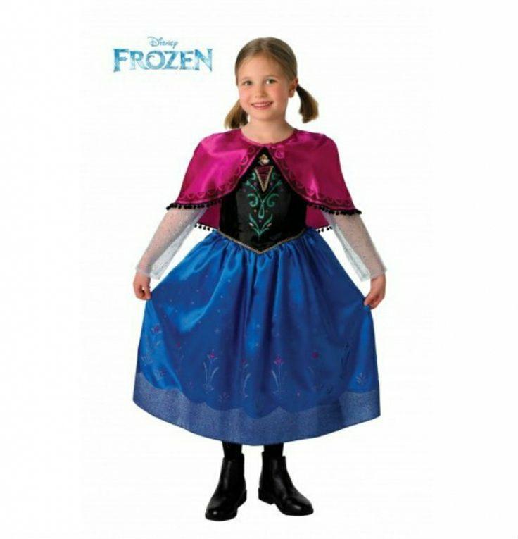 #Disfraz de Anna Frozen Deluxe infantil . Anna Frozen #costume http://www.leondisfraces.es/producto-1066-disfraz-de-anna-frozen-deluxe-infantil