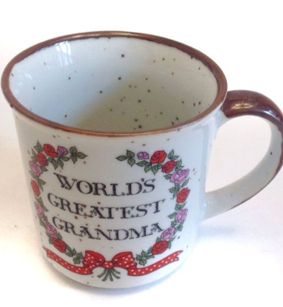 Worlds Greatest Grandma 1980s Retro Coffee Cup By ASECONDHANDSHOP, $15.00