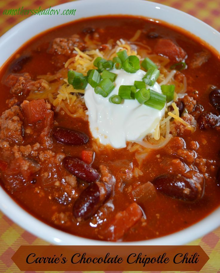 THIS Chocolate Chipotle Chili is the answer to all of autumns recipes and fall easy foods to make.  It can even be made in the crock pot, or frozen for later.  This stew, or sometimes considered a thick soup is spicy, but just enough to give a balanced fl