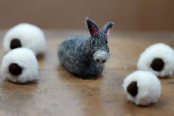 DONKEY for NATIVITY- Individual Donkey,1 Donkey, Burro,Nativity Animals,Nativity Scene,Jesus,Needle Felted-Waldorf-Small, Nativity Set