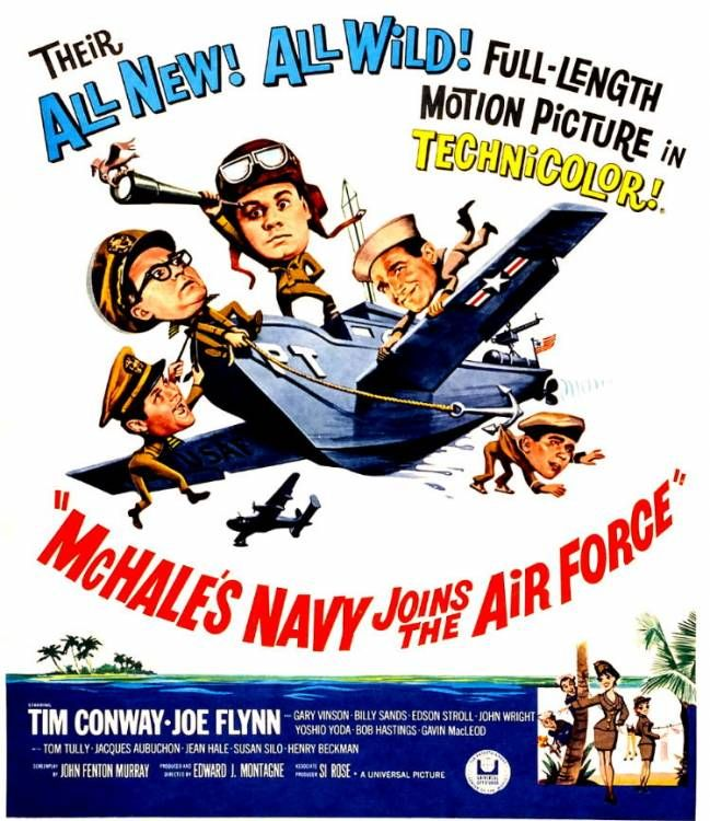 mchales navy sketches | McHale's Navy Joins the Air Force: Theatrical Poster - Sitcoms Online ...