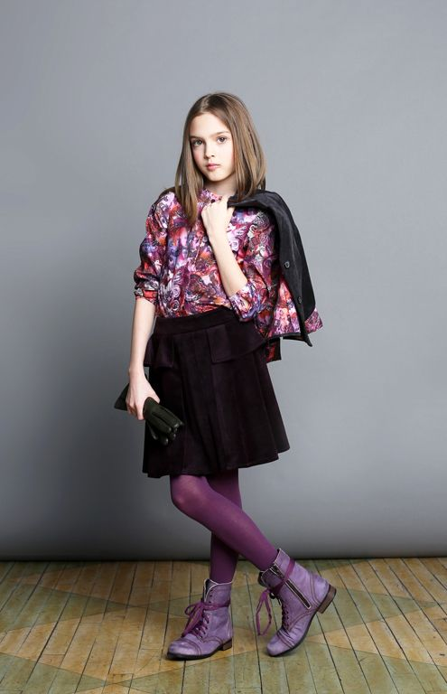 aw14: EuroClub Collection offers sophisticated separates for tweens. And the mix of plums! Delectable. www.euroclub-collections.com, www.tfnyusa.com