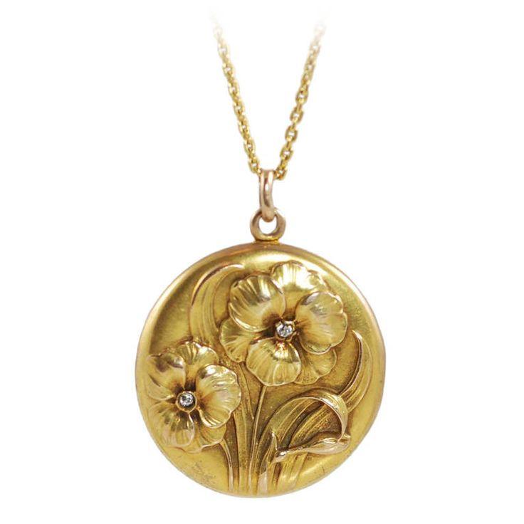 75 best lockets images on pinterest lockets rockets and enamels art nouveau diamond yellow gold floral design locket art nouveau jewelryjewelry aloadofball Gallery