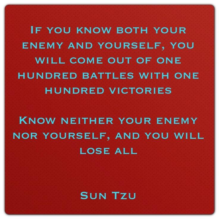 Art Of War Quotes Know Your Enemy: 25+ Bästa Sun Tzu Idéerna På Pinterest