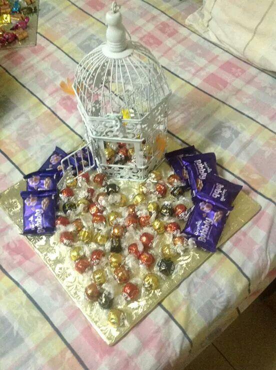 Bird cage theme chocolate kuncha | kuncha ideas (gift ...