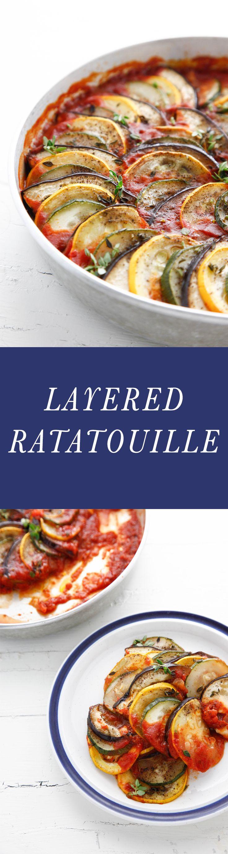 Layered ratatouille recipe food food recipes cooking