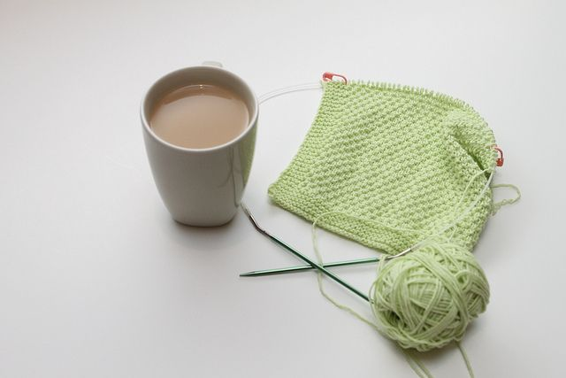 Green Sploshy Washcloth