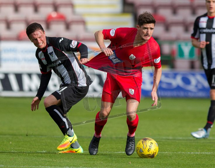 Queen's Park's Paul Woods in action during the IRN-BRU Cup game between Dunfermline Athletic and Queen's Park.