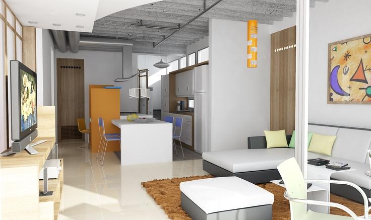 Vista interior apartamento 75M2