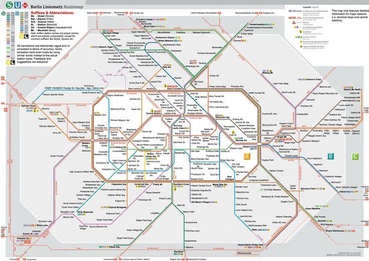 Berlin Subway-Map denglish
