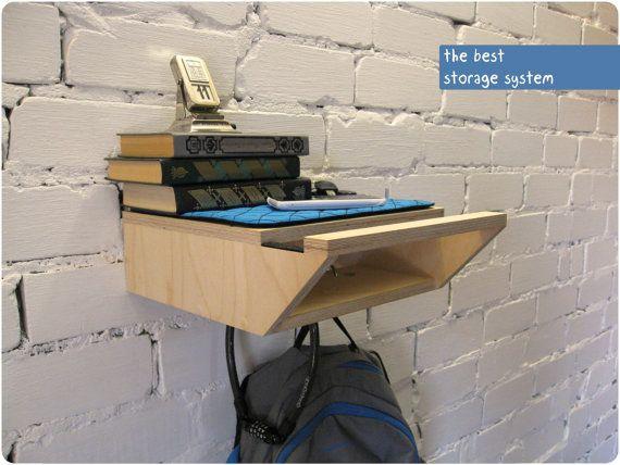 Bike rack, Bicycle Shelf, Bike accessories. Buy it here: https://www.etsy.com/shop/BikeWoodHome
