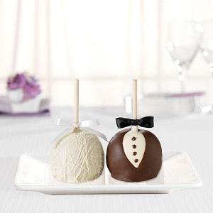 Mrs. Prindable's Bride and Groom Petite Caramel Apple Favors