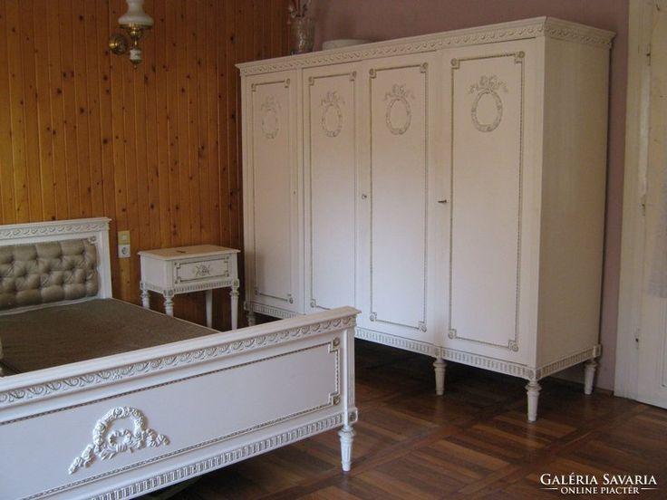 Copf stilusú, fehér arany hálószoba garnitúra