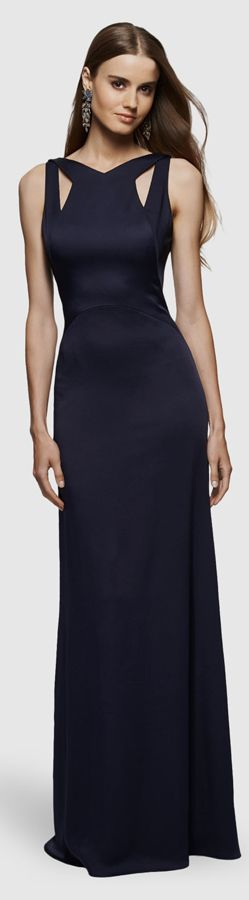 This David Meister Gown could be adapted for bridesmaids.  The cut-out on top is stunning.