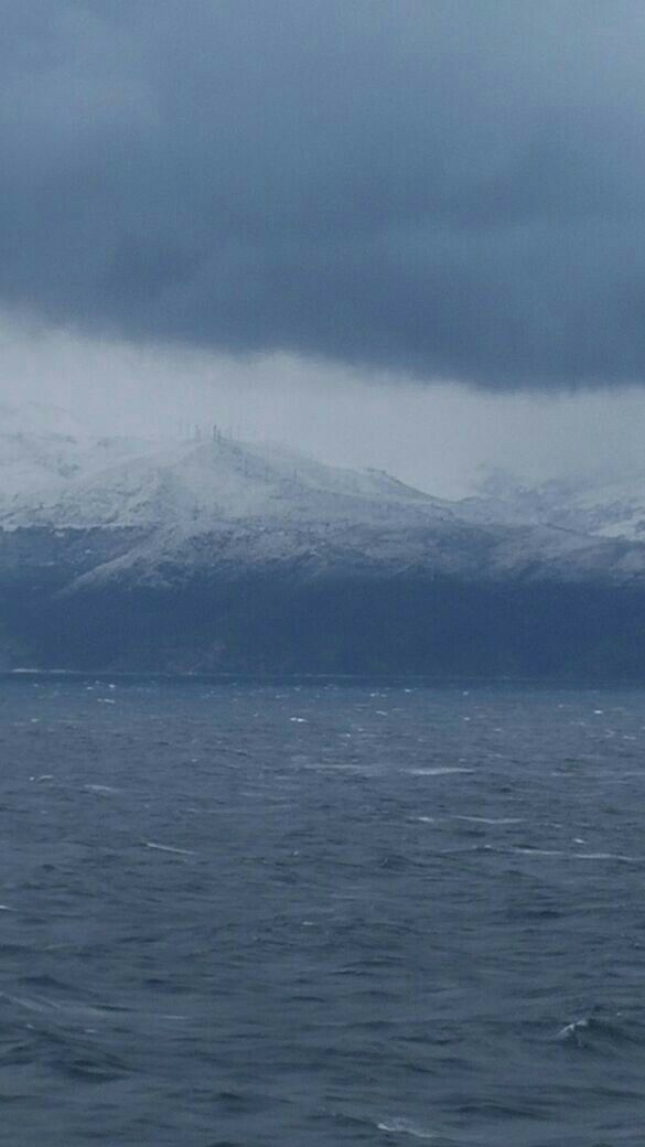 Nevicata sul mare Egeo  2015