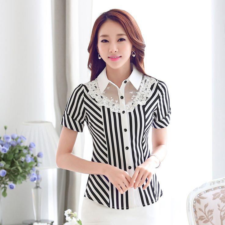 Mujeres profesionales trabajan primavera otoño verano 2016 nueva manga larga camisa de cuello delgado estiramiento cordón de la raya la blusa de camisas formales en Blusas y Camisas de Moda y Complementos Mujer en AliExpress.com   Alibaba Group