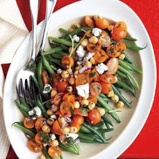 coarse salt; ground pepper; 1 1/2 lbs fresh green beans (trimmed); 2 ...