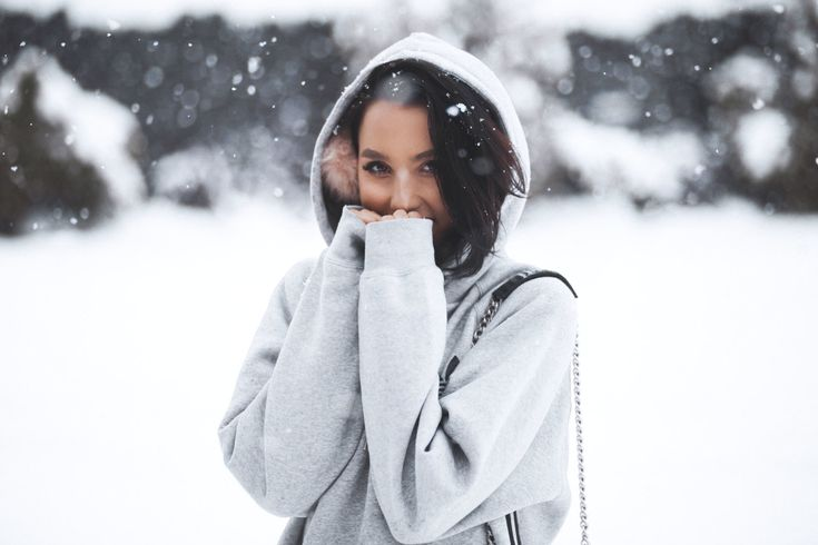 That one time when it snowed late in April.  Wearing a boyfriend Adidas Originals Hoodie.