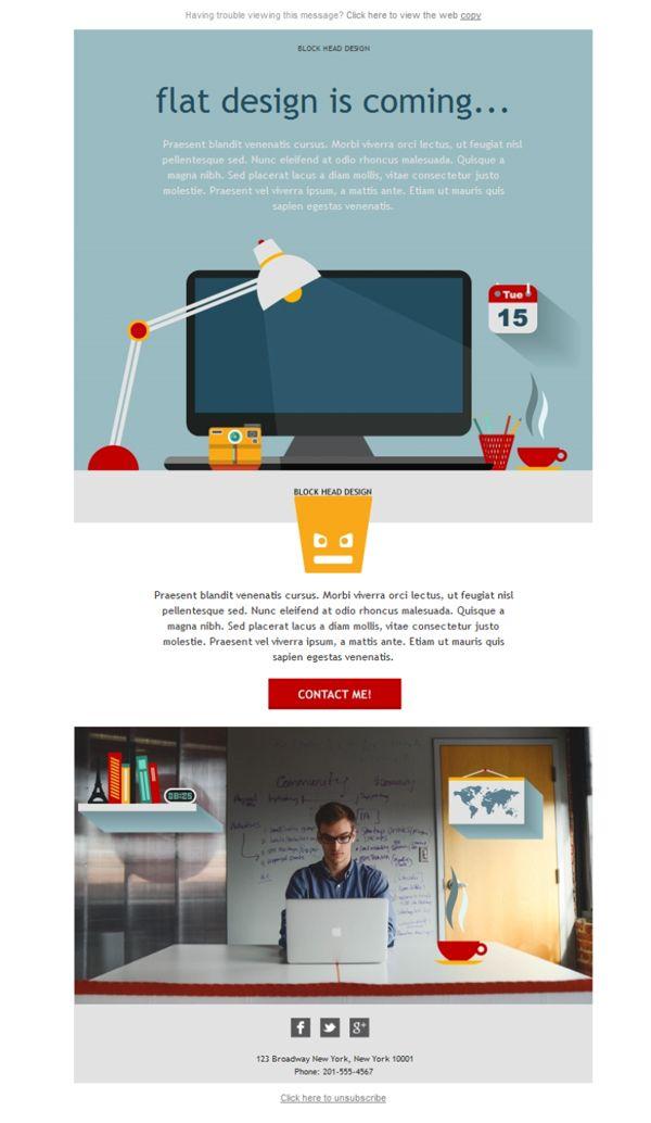 Quién te diría que podrías diseñar una plantilla newsletter como ésta o personalizar la que quieras para que tu agencia de diseño gráfico esté en los correos de todos tus clientes. Woww, con Mailify, es posible.