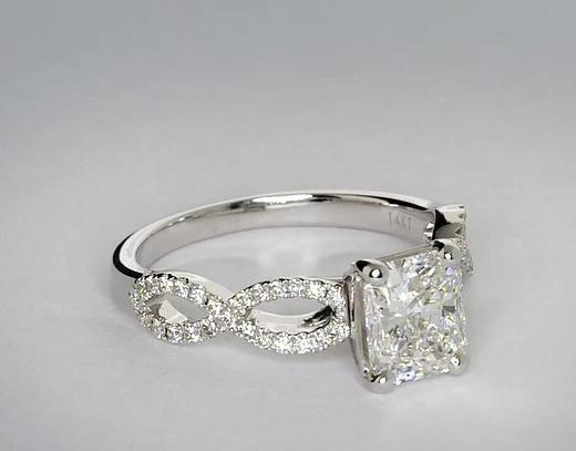 Love love love the infinity symbol!!! Infinity Twist Engagement Ring @Salma Spahi