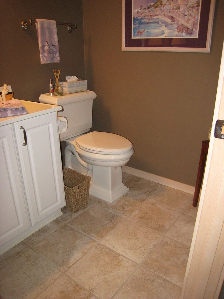 25 best ideas about tan bathroom on pinterest pebble for Small bathroom flooring ideas