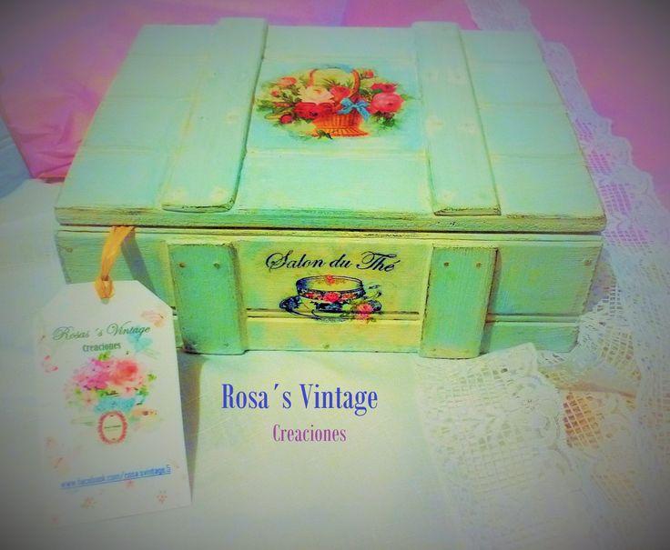 Caja para té, Rosa´s Vintage creaciones