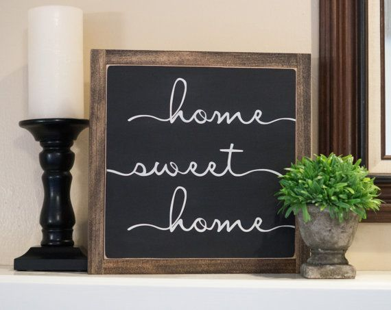 Home Sweet Home Sign 12 X 12 Housewarming Gift by FernsandIvy