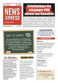 Druckvorlage 'Einladung zum Klassentreffen' bei Wunschblatt selber gestalten und drucken
