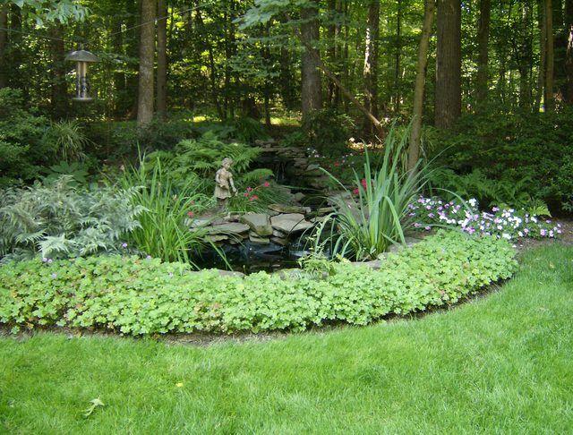 Shade garden koi pond backyard pinterest for Koi pond shade ideas