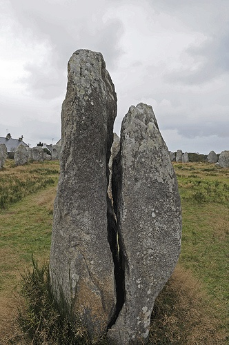 "Carnac, Brittany, France. I visited these ancient stone 'monuments' used by Druid Tribes of Bretagne (Brittany) on the northwest coast of France. ""Les Alignements"" are much larger in area than Stonehennge,UK. It is astonishing to think of how these huge rocks were transported and set in place centuries ago..before Modern Civilization."