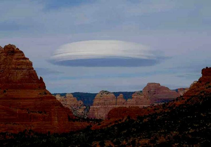 Lenticular Clouds...now these I've seen. Wild looking things.