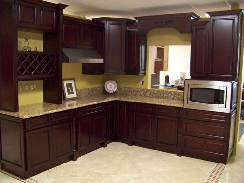Chocolate Brown Paint Kitchen Cabinets Kitchen