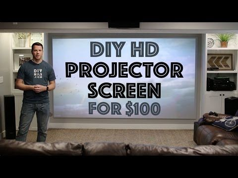 Video of the Day: DIY Projector Screen 2-6-17 - TheSmarterSociety