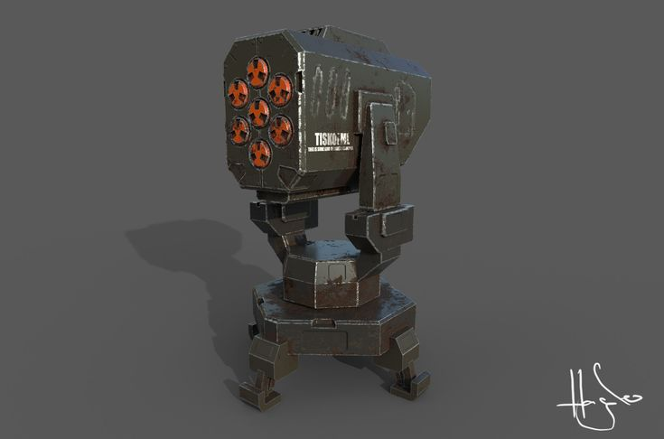 Turrets for my tower defense game low poly & gameready