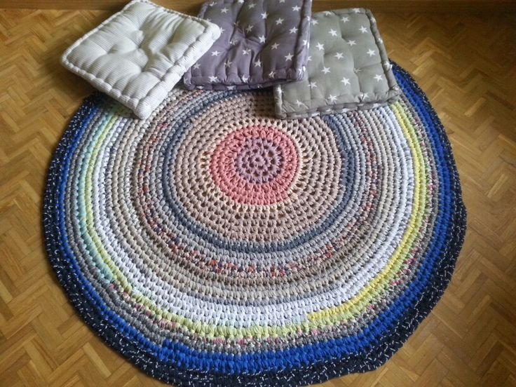 Tutorial Crochet Xxl : Catifa gran multicolor. Crochet XXL Pinterest
