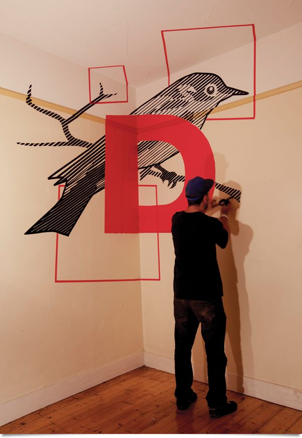 Tape Art by Robert Wiltshire, via Behance