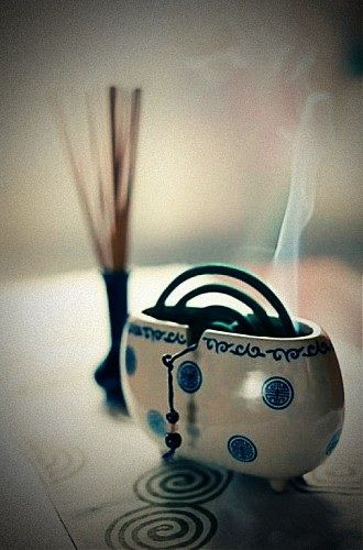 Japanese mosquito coil....beautifulest thing OMG! i love these. Very rarely do I see one.