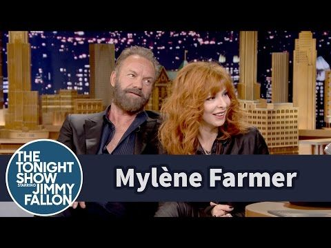 The Tonight Show Starring Jimmy Fallon: Mylène Farmer Punishes Jimmy for His Bad French