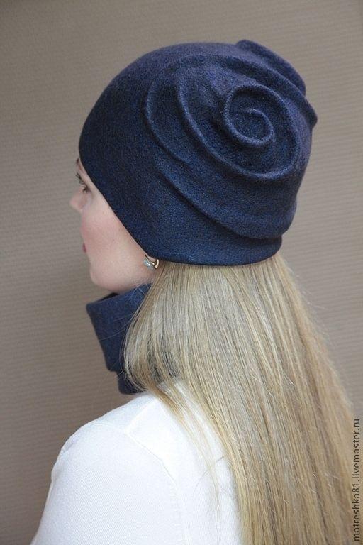 Купить Шапка валяная. шарф труба+повязка. - шапка валяная, шапка из шерсти, шарф валяный