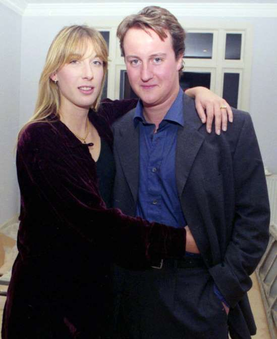 Politicians before they came into power  -  April 30, 2017:     DAVID CAMERON | 1990 | FORMER PRIME MINISTER OF UK  With wife Samantha.