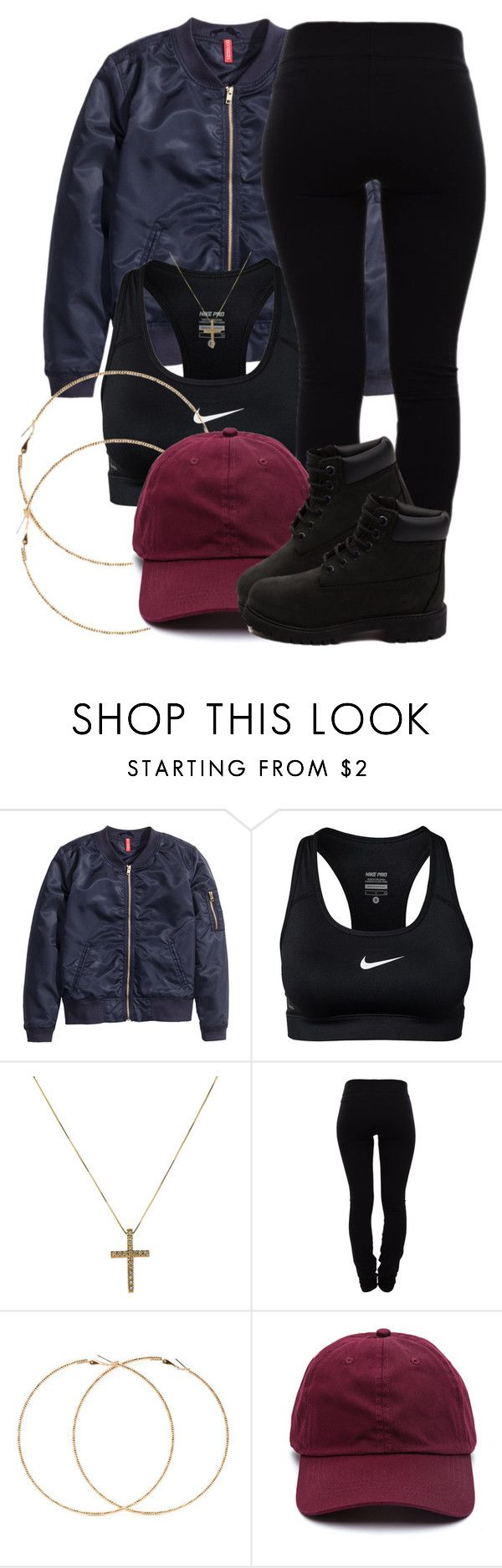 """""""12 20 15"""" by miizz-starburst ❤ liked on Polyvore featuring H&M, NIKE, Helmut Lang, Forever 21 and Timberland"""