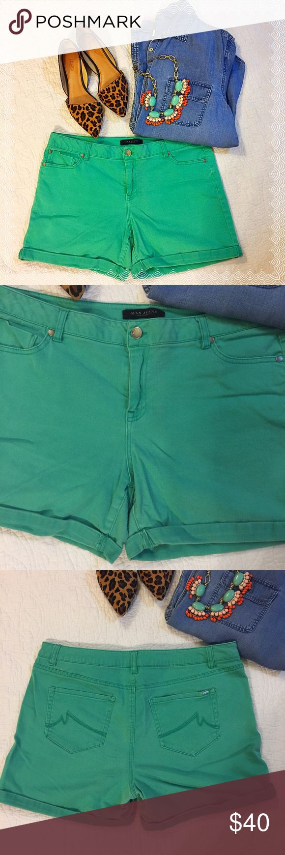 Turquoise Jean Shorts • Max Jeans size 14 • Great used condition  • Turquoise color  • Open front and back pockets  • Fitted but comfortable stretchy material (98% cotton/2% spandex) • Belt loops  • Negotiable with reasonable offers ☺️💕 Max Jeans Shorts Jean Shorts