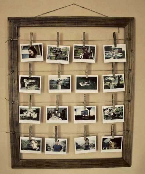 Picture clothesline frame