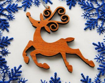 Fiestas madera Whimsical Reno navidad ornamento... Decoración