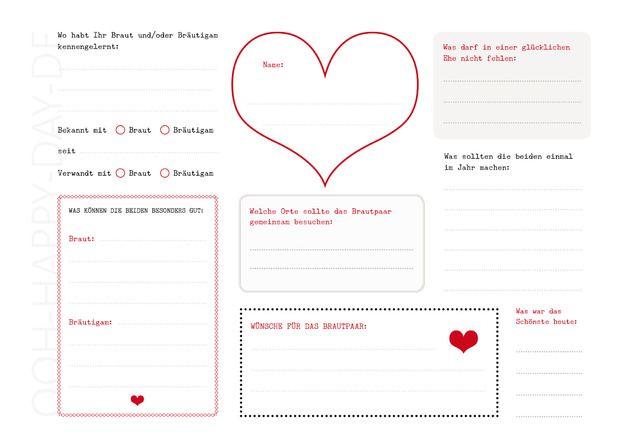 Hochzeitsgstebuch  DIY Gstebuch Hochzeit mit 3 PDF