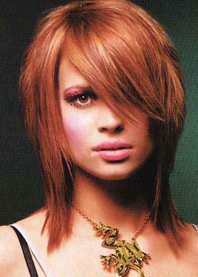 medium length auburn hair color
